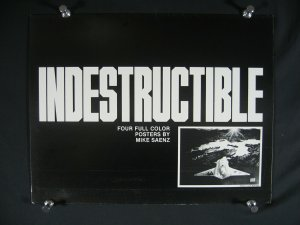 MIKE SAENZ-INDESTUCTIBLE-4 PLATES-SIGNED/NUMBERED