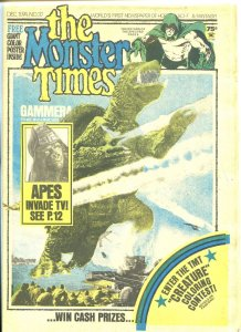 The Monster Times #37 Horror Newspaper 1974 Gammera Apes Invade TV DC Spectre