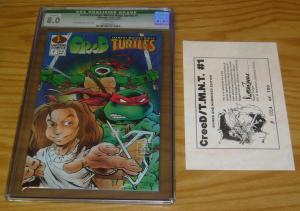 CreeD/Teenage Mutant Ninja Turtles #1 CGC 8.0 signed with COA (#14 of 700) tmnt