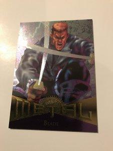 BLADE #56 card : Marvel Metal 1995 Fleer Chromium; NM/M X-Men Avengers, base