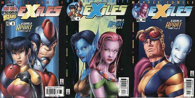 EXILES (2001) 8-10  A World Apart COMICS BOOK