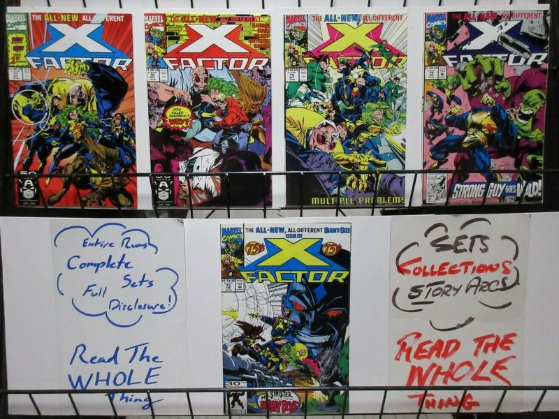 X FACTOR 71-75  The NEW Team  complete story arc!