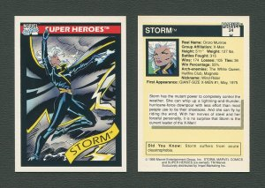1990 Marvel Comics Card  #24 (Storm) / MINT