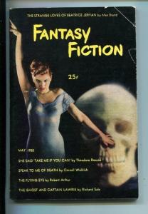 FANTASY FICTION-#1-MAY 1950-BRAND-WOOLRICH-SOUTHERN STATES PEDIGREE-fn-