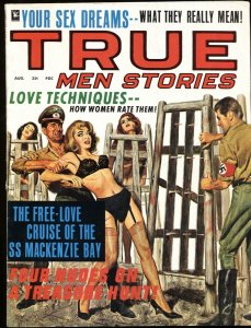 True Men Dec 1967 NAZI spiked cage torture! PULP THRILLS