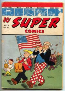 Super #62 1943- American Flag cover- Dick Tracy G/VG