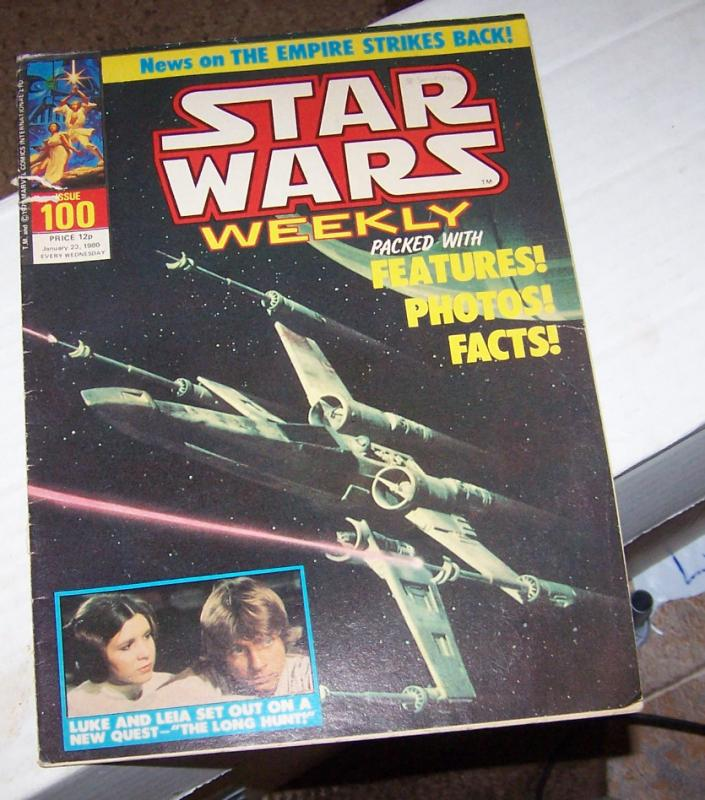 star wars weekly (uk) #100 photo cover luke & liea  low grade
