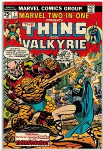 MARVEL TWO IN ONE 7 F-VF Jan. 1975 Vallkyrie