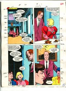 American Flagg! #37 Page #18 Original Color Guide 1987
