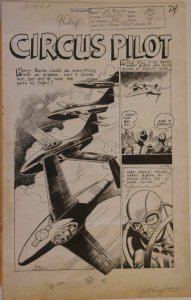 JOHN CELARDO original art, JET FIGHTERS #6, pgs 24-30, 1952, 7 pgs, Blue Angels