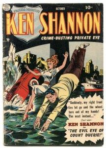 Ken Shannon #1 1951- Headlight cover- Golden Age comic VG-