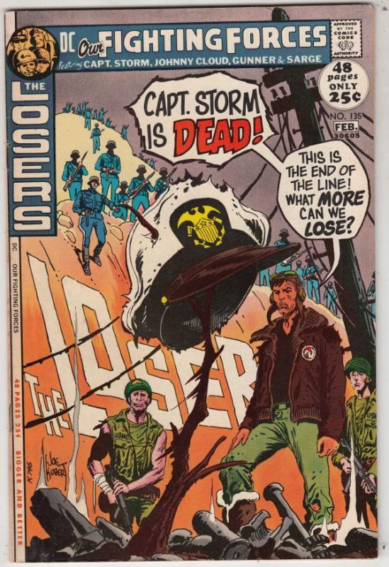 Our Fighting Forces #135 (Feb-72) FN/VF+ High-Grade The Loosers
