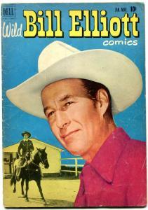 Wild Bill Elliott #8 1951- Golden Age Dell Western- Photo cover VG