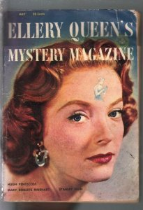 Ellery Queen's Mystery Magazine 5/1954-crime & Mystery pulp-Rinehart-G