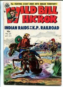 WILD BILL HICKOK #20 1954-AVON-EDWARD EVERETT KINSTLER COVER-KIT WEST-vg/fn