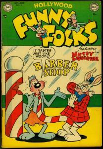 FUNNY FOLKS #49 1952-DC COMICS-NUTSY SQUIRREL SUPERMAN VG/FN
