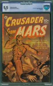 Crusader from Mars #1 (Ziff-Davis, 1952)  CBCS 5.5 FN