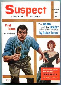 Suspect Detective Stories #1 November 1955- Robert Turner- Walter Snow VF