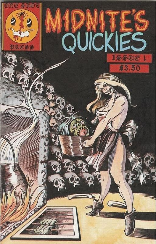 MIDNITE'S QUICKIES #1 ONE SHOT PRESS JOLTING TALES  HORROR COMIC W/ FREE POSTER