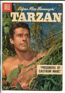 TARZAN #106-1958-DELL-GORDON SCOTT COVER- BURROUGHS- MARSH- MANNING-vg