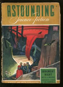 ASTOUNDING SCIENCE FICTION 08/1943-PULP SCI-FI-  A E VAN VOGT-FRITZ LEIBER-good