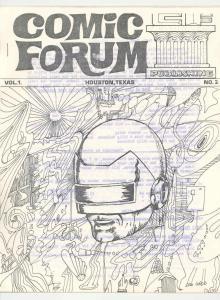 COMIC FORUM #2 - RARE ORIGINAL 1968 FANZINE -CAP A-NICE FN/VF