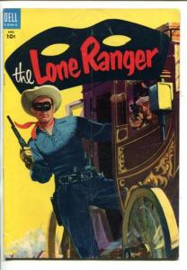 THE LONE RANGER #82-1955-DELL-TONTO-SCOUT-SILVER-SILVER BULLET-STAGECOACH-vg