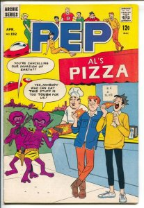 Pep Comics #192 1966- Archie- Betty & Veronica-Josie-flying saucer & aliens c...