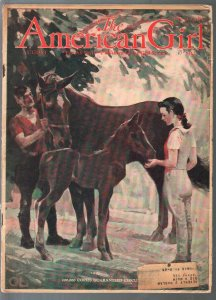 American Girl 8/1942-Orson Lowell cover art-info for girls-pulp fiction-VG