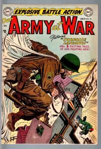 OUR ARMY AT WAR #24 1954-DC WAR-PRE CODE!-PARACHUTE COVER-VF- VF-