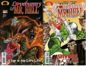 LOVEBUNNY & MR HELL (2003 IM) 1,1  Set of both 1-shots!