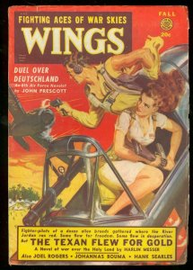 WINGS FALL 1949 GOOD GIRL ART FICTION HOUSE SAUNDERS VG/FN