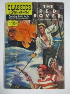 CLASSIC ILLUSTRATED #114 (G) THE RED ROVER (1ST Edition, HRO=115) Dec 1953
