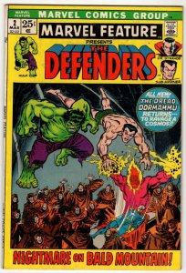 Marvel Feature #2 - 2nd App DEFENDERS! Bronze Age MARVEL