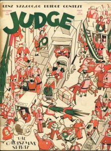 Judge 12/12/1930-Frank Hanley Christmas cover-Loy Byrnes-MacHamer-Forbell-G/VG