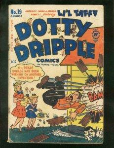 DOTTY DRIPPLE COMICS #19 1951-BUFORD TUNE NEWSPAPER ART G/VG
