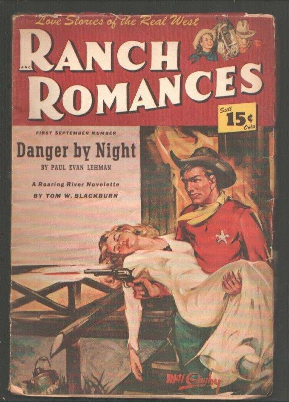 Ranch Romances-9/1/1948-Spicy GGAcover by Will Gimby-Fanny Ellsworth editor-P...