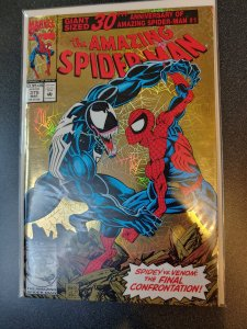 AMAZING SPIDER-MAN #375 NEAR MINT  GOLD FOIL COVER HIGH GRADE NM