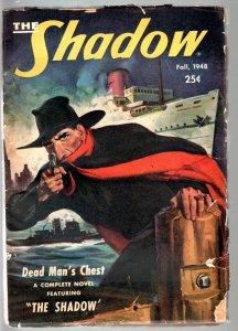 SHADOW FALL 1948-WALTER GIBSON-JOHN D. MACDONALD-PULP-G/VG-RARE PULP G/VG