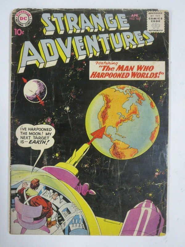 STRANGE ADVENTURES #103 (DC, 4/1959) GOOD (G) Mike Sekowsky!
