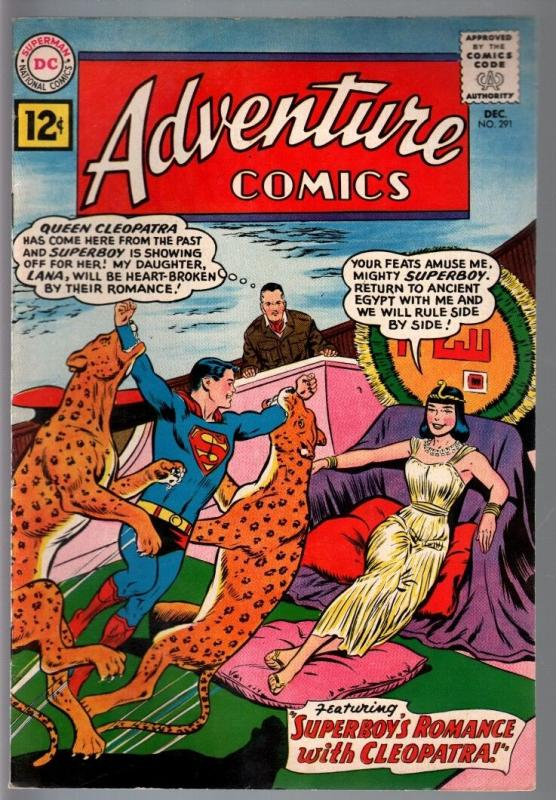 ADVENTURE COMICS #291-1961-SUPERBOY-CLEOPATRA-SILVER AGE-DC-vf minus VF-