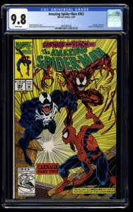Amazing Spider-Man #362 CGC NM/M 9.8 White Pages 2nd Carnage!