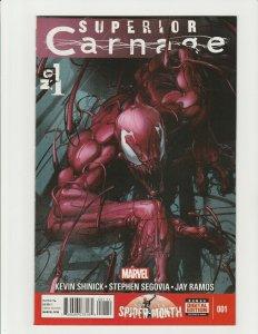 Superior Carnage 1 (2012 Marvel) 1st Print Clayton Crain Spider-Man Cover Homage