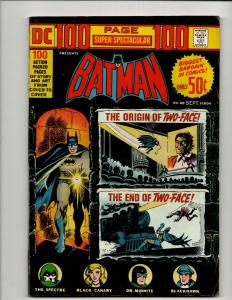 DC 100 Page Spectacular DC-20 Comic Book Batman Robin Spectre FN Two Face J371