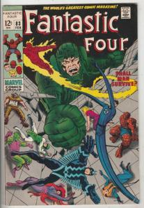 Fantastic Four #83 (Feb-69) VF High-Grade Fantastic Four, Mr. Fantastic (Reed...