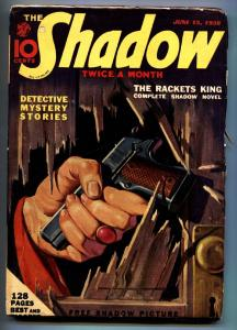 SHADOW 1938June 15 -Sheridan Doome- STREET AND SMITH-RARE PULP vg