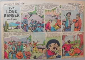 Lone Ranger Sunday Page by Fran Striker and Charles Flanders from 4/26/1942