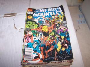 infinity gauntlet # 3 thanos + avengers jim starlin silver surfer warlock death