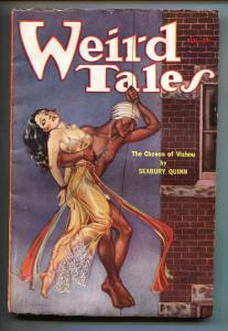 Weird Tales 8/1933-VAMPIRE AIRPLANE-Brundage cover-Pulp Magazine