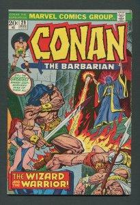 Conan The Barbarian #29  / 7.5 VFN-  August 1973